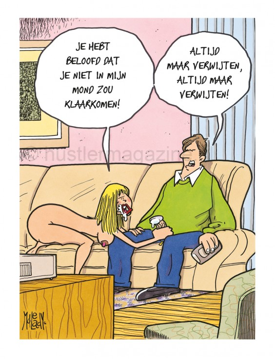 Hustler Cartoon klaarkomen